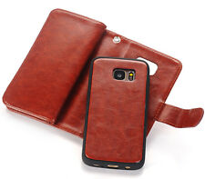 Luxury Magnetic Flip Cover Stand Wallet Leather Case For Samsung Galaxy S6 Edge