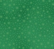 Fat Quarter Christmas Joy Sparkle Pearl Accent - Green - Cotton Quilting Fabric