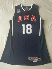 Stephen Curry Game Issued USA 2010 Jersey pro cut 48+4