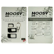 NOOSY sim adapter convertitore 4-in-1 PER TUTTI GLI IPHONE E IPAD MINI & Samsung S3 / S4