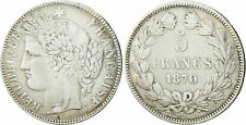 GOUV  DÉFENSE NATIONALE   5  FRANCS  CERES  ARGENT 1870  K  ETOILE  SANS LEGENDE