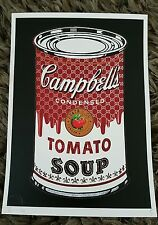 Tomato Soup black  sign/AP 2013 by NYC like banksy dismaland. MBW