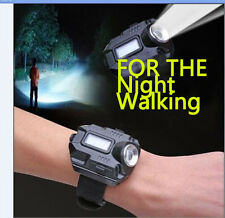 CREE Q5 LED 1000 Lumens Wrist Watch Flashlight Torch Light USB Charging Travel