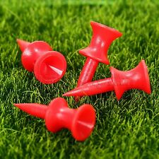NEW 31mm Plastic Graduated Golf Ball Tee 100 Pcs Outdoor Sports Accessories Red