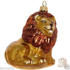 Décorations pour arbre de noëL Animal en Verre : LION Ornements en verre