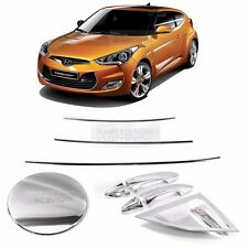 Chrome Window Accent Door Catch Trim Fuel Cover 10P for HYUNDAI 2011-17 Veloster
