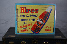 super RARE HIRES Root Beer sign non porcelain bottle store display