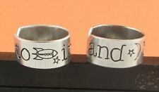 To Infinity and Beyond Ring Set Best Friends Friendship Adjustable Hand stamped