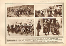 1915 WWI PRINT CAVALRY IN GERMAN TRENCHES BOY SCOUTS AT WAR OFFICE WOMEN BERLIN