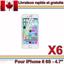 6x - Film Protecteur d'Écran Transparent pour iPhone 6 6S (4.7'')