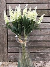 2 mazzi di Crema Artificiale Lavanda in Fiore rametti, Cottage in finta seta fiori