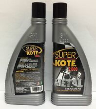 2 Pcs NEW SUPERKOTE 2000 Anti-Friction Metal Treatment for Engines and Industry