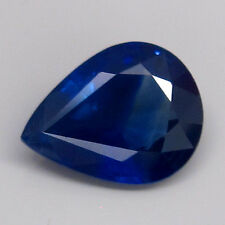 EXTRAORDINARY! 1.55ct.Natural Cornflower Blue Color Sapphire Africa Pear 8x6mm.