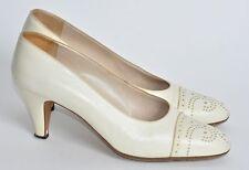 Vintage Chanel Rare Spectator Style shoes/pumps Beige/bone 37.5/7.5