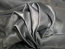 "Bemberg Rayon Lining Fabric Sewing BTY Gray 60"" Wide $14/yd BTY Silk/Wool"