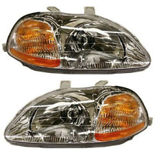 New Set Of 2 Head Lamp Lens and Housing Left & Right Side Fits Honda Civic