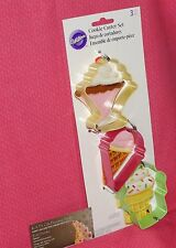 Summer,Ice Cream Cookie Cutter Set,Wilton,Multi-Color,2308-0915, 3 pc set.