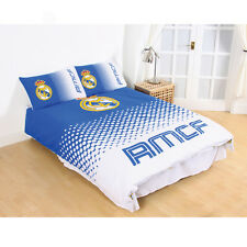 FC Real Madrid Double Duvet Cover and Pillowcase Set Fade Design