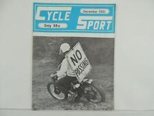 Vintage Dec 1961 CYCLE SPORT Magazine Scrambles Matchless Indian Triumph L3645