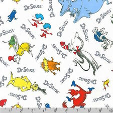 Dr Seuss Celebrate Seuss 4 The Cat In the Hat Lorax Grinch White Fabric