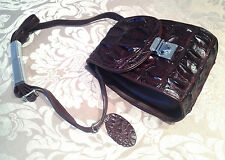 Vintage Ladies Designer Crocodile Leather 100% Shoulder Satchel Tote Handbag Bag