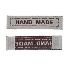 50 Stück Label Etiketten ♥ HANDMADE beige ♥ 4 cm  Breite Farbenmix Webband