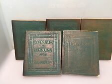 Set 5 Vintage Mini Books - Shakespeare Dante /Walt Whitman, W.B Yates & Plato