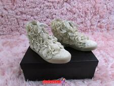 Authentic CHANEL Beige Mesh Camellia Flower Sneaker Shoes Size 37.5/US size 6.5