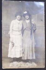 1919 Antique Drag Queen, Cross Dressing Men, Gay, Dress,Flowers,Postcard