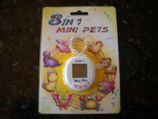 8 in 1 Mini Pets  LCD Virtual Electronic Game White Tamagotchi giga type NIP