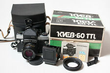 Kiev-60 TTL + MC Volna-3 2.8/80 lens medium format 6x6 film camera, MINT