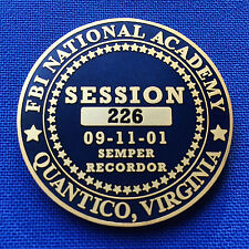 FBI National Academy Quantico VA Session 226 9/11 Police Memorial Challenge Coin