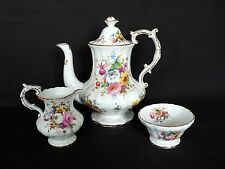 Hammersley Bone China Coffee Pot / Teapot Creamer Sugar Bowl Signed F. HOWARD