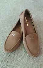 Coach Tan Suede Women's Loafers Slip On Shoes Size 8B / New without Box