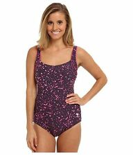TYR MOONSTONE BEACH SQAURE NECK CONTROLFIT ONE PIECE SWIMSUIT PINK SIZE 10 $80