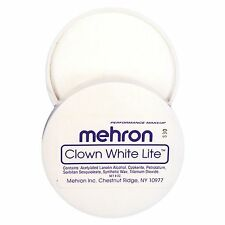 Mehron Clown White Lite Professional Clown & Mime Makeup Face Body Paint 7 oz.