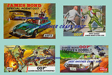 Airfix set of vintage James Bond Posters Aston Martin Gyrocopter Odd Job Leaflet