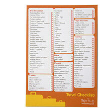 A5 Travel and Vacation Checklist & Planner - 50 Sheets Per Pad - 8.3' x 5.8'