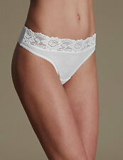 Fa M Ou S High St Store 5 Pack M S Thongs Knickers Size 6-20 in Various Colours