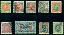ICELAND #110//187 Chr X Issues with TOLLUR (Revenue) cancels, Facit $83.00