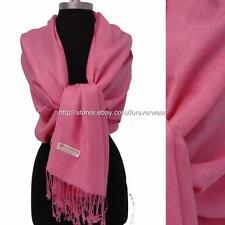 Pink Paisley Floral 30%Pashmina/70%Silk Wool Scarf Wrap Shawl Classic 1a