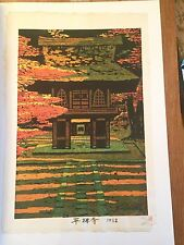 Shiro Kasamatsu Japan 1962 Modern Woodblock 1st State Pencil Signed Numbered
