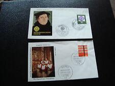ALLEMAGNE (RFA) - 2 enveloppes 1er jour 1959/1962 (cy59) germany