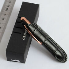MINI CROCODILE SPACE PEN COPPER ROLLER BALL PEN ENGRAVE 9CM IN LENGHT WITH POUCH