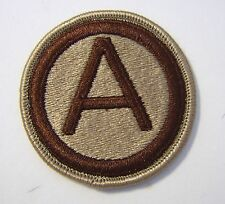 3rd ARMY PATCH SSI U.S. ARMY - DESERT TAN COLOR:FA12-1