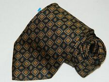 Men's Brooks Brothers Makers Floral Black Silk Neck Tie Made in USA NEW