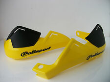 POLISPORT HAND BRUSH GUARDS YELLOW GREEN LANING ENDURO MOTOCROSS RM RMZ DR DRZ