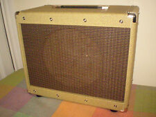 "EB Classic 112E 12"" guitar speaker cabinet. Real tweed with Oxblood stripe grill"