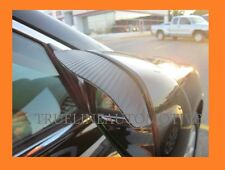 Black Carbon Fiber Mirror Rain Shade Guard Visor Visors 2 Piece For HONDA