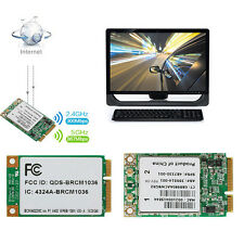 Wireless-N WIFI 300M BCM94322MC Dual Band Mini PCI-E Card For HP SPS:487330-001